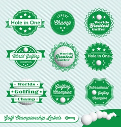 Golf Championship Labels vector image