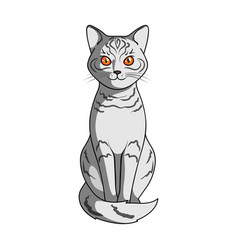 Gray catanimals single icon in cartoon style vector