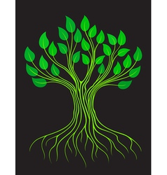 Green stylized tree vector