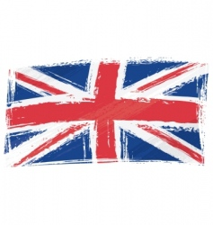 grunge United Kingdom flag vector image vector image