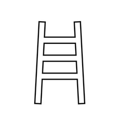 ladder it is black icon vector image vector image