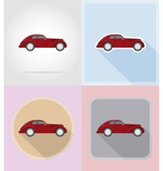 old retro transport flat icons 07 vector image vector image