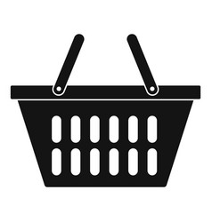 plastic shopping basket icon simple style vector image