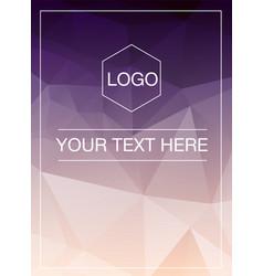 Polygonal greeting card mockup vector