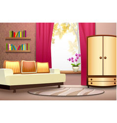 Room cartoon interior vector