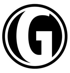 Round g logo vector