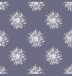 rustic flower seamless pattern vector image vector image