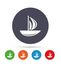 Sail boat icon ship sign vector