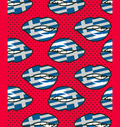 seamless pattern greece vector image vector image