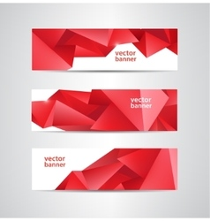 Set of abstract red crystal faceted vector