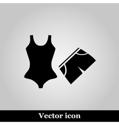 Swimming trunks and Bikini flat Icon vector image