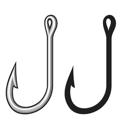 fishing hook vector image