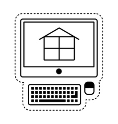 Computer with construction software vector