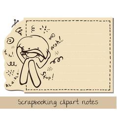 Scrapbook funny lined notepaper vector