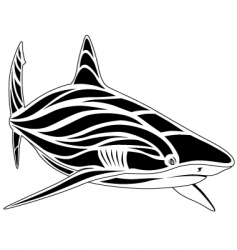 Shark tattoo vector