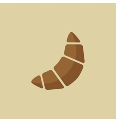 Croissant food flat icon vector