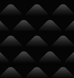 Black Wave Pattern Seamless Background vector image