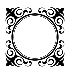 Circle ornamental decorative frame vector