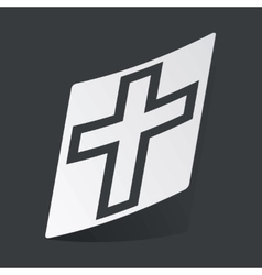 Monochrome christian cross sticker vector