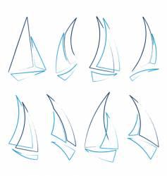 sailboat icons vector image