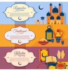 Islam banners set vector