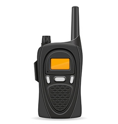 Walkie talkie 04 vector