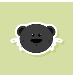 Cute puma face vector