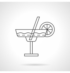Margarita cocktail flat thin line icon vector