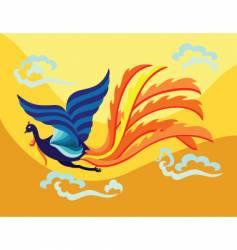 Oriental phoenix vector