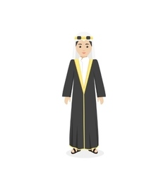 Saudi arabia traditional clothes people vector
