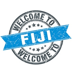 Welcome to fiji blue round vintage stamp vector