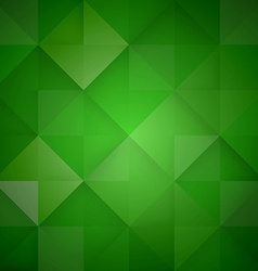 Abstract mosaic green background vector image