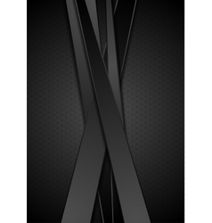 Black stripes tech corporate background vector image vector image