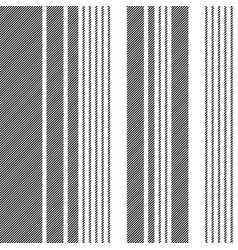 black white abstract lines seamless pattern vector image