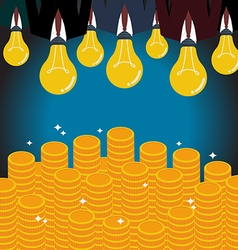 Businessmen with a light bulb head glow to the vector image vector image