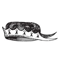 Cap of maintenance vintage engraving vector