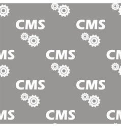 Cms seamless pattern vector