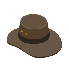 Cowboy hat icon isometric 3d style vector