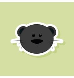 Cute puma face vector