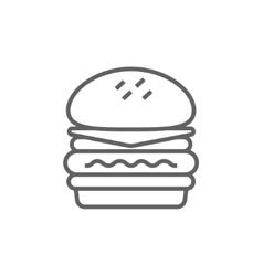 Double burger line icon vector