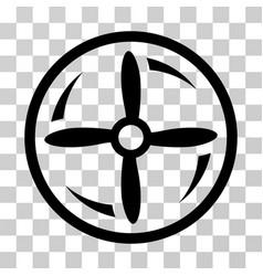 Drone screw rotation icon vector