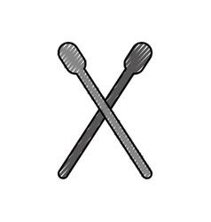 Drum stick isolated icon vector