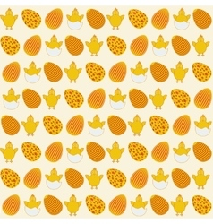 Easter simple seamless decorate retro pattern vector image vector image