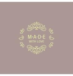 Eastern design hand made trademark vector