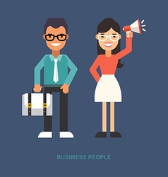 Flat Style Business People Cartoon Characters vector image vector image