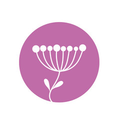 flower sprout natural icon vector image