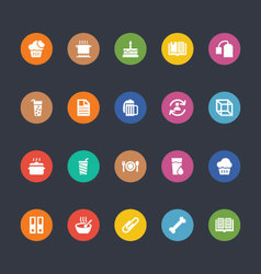 Glyphs colored icons 20 vector