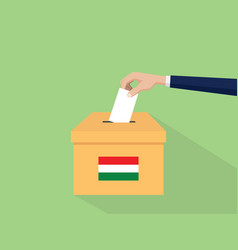hungary election vote concept with vector image vector image