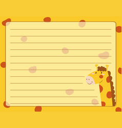 Line paper design with giraffe vector