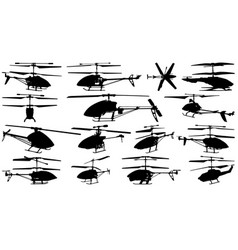 model helicopters vector image vector image